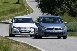 VW Golf Bi-Fuel и Honda Insight. ГБО и гибридный привод в сравнении