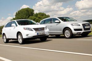 Когда SUVы становятся экологичными. Audi Q7 3.0 TDI Clean Diesel против Lexus RX 450h