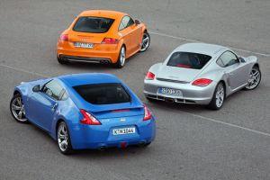 Nissan 370Z оказался быстрее Audi TTS и Porsche Cayman, но немцы не дали ему победить в сравнительном тесте