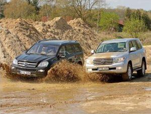 Сравнительный обзор дизельных внедорожников Toyota Land Cruiser 200 и Mercedes-Benz GL