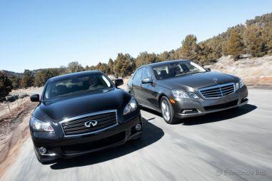 Сравнительный тест: Infiniti M56 Sport против Mercedes-Benz E550