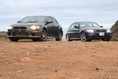 BMW 335i против Mitsubishi Lancer Evolution. Бескомпромиссный спорт-седан против джентльменского раллийного авто