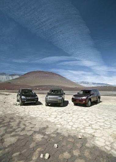 Сравнительный тест на бездорожье: Land RoverLR4 против Lexus GX460 и Mercedes-Benz GL450