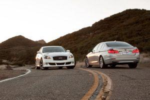 Сравнительный тест: BMW550i против InfinitiM56