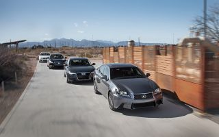 Новый LexusGS350FSport и InfinitiM37S против AudiA63.0T и BMW535i