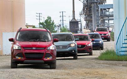 Сравнение компактных кроссоверов: FordEscape, HondaCR-V, KiaSportage. MazdaCX-5 иVWTiguan