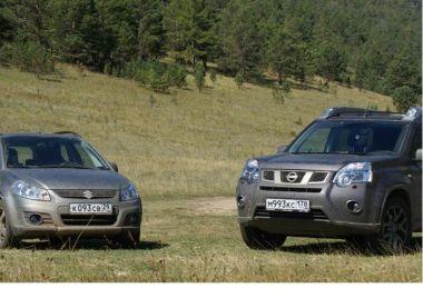 На Байкал на Suzuki SX4 и Nissan X-Trail
