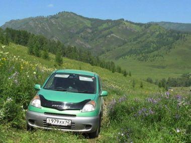 Водопады на реке Шинок. Алтай. Июль 2012. Toyota Funcargo