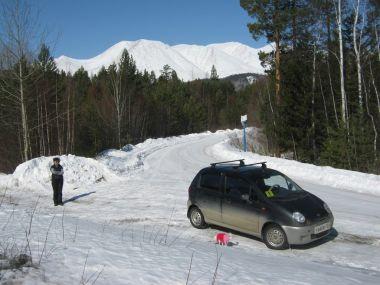 Красноярск — Северобайкальск в марте 2013 г. на Daewoo Matiz