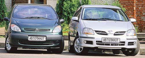 Семейная беседка (Nissan Almera Tino и Citroen Xcara Picasso, 2001 год)