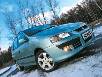 Борьба за пространство (Mitsubishi Space Star 1.8 Comfort, 2002 год)