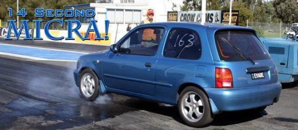 Nissan Micra + турбина = 402 метра за 14 секунд!