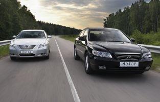 """""""Конфликт имен"""". Сравнение а/м Toyota Camry и Hyundai Grandeur, 2006"""