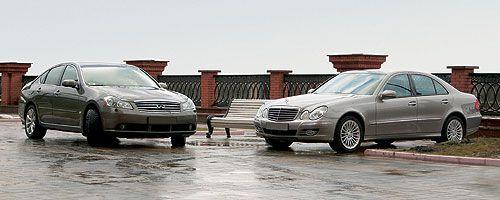 """""""Звезда & Бесконечность"""". Парный тест INFINITI M35X и Mercedes-Benz E350 4MATIC"""