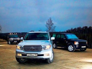 Сравнительный тест внедорожников Hummer H2, Land Rover Discovery 3 и Toyota Land Cruiser 200