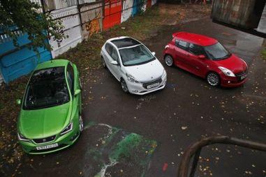 Тест-драйв SEAT Ibiza FR, Peugeot 208 и Suzuki Swift. Жить ярко!