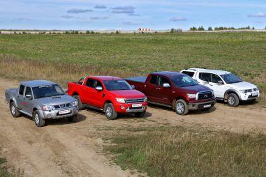 Тест пяти пикапов: Nissan NP300, Mitsubishi L200, Toyota HiLux, Ford Ranger  и Toyota Tundra