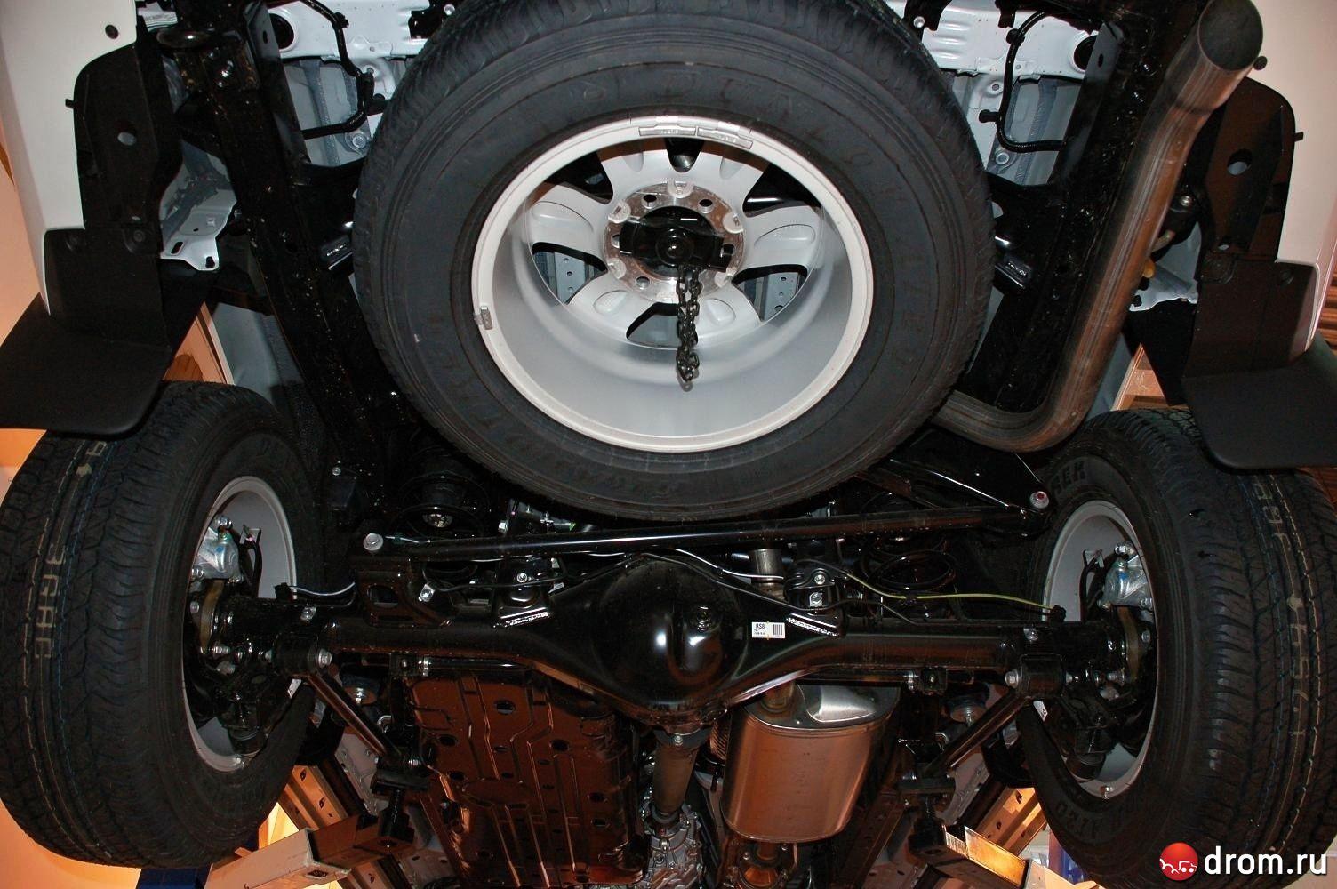 как снять запаску Toyota Тундра #7