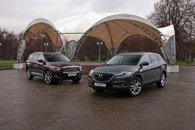Сравнительный тест Infiniti JX35 и Mazda CX-9. King size