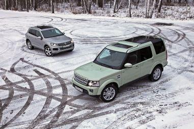 Дуэль-тест Volkswagen Touareg Hybrid и Land Rover Discovery 3.0 SCV6. V8 в опасности!