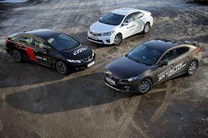 Тест-драйв Mazda 3, Toyota Corolla и Honda Civic. Тройка удалая