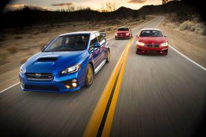 BMW M235i против Mercedes CLA45 AMG и Subaru WRX STI. Который из этих резвых жеребцов осчастливит нас больше других?