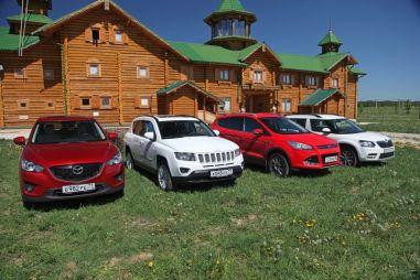 Сравниваем кроссоверы Mazda CX-5, Jeep Compass, Ford Kuga и Skoda Yeti. Один на всех или все на одного