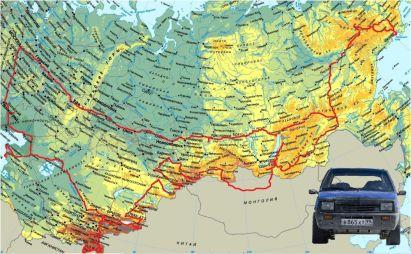 К Магадану на Оке через Казахстан, Узбекистан, Таджикистан и Киргизию! Или приключения Оки перевертыша
