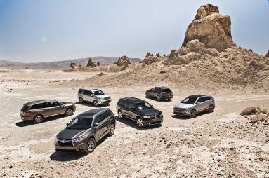 Сравнение 7-местных кроссоверов: CX-9, Durango, Highlander, Pilot, Santa Fe и Pathfinder