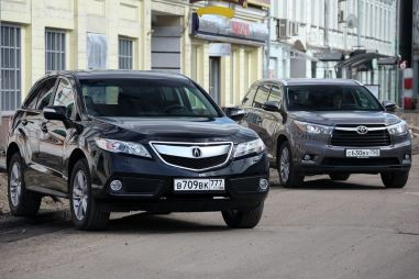 Сравнительный тест Acura RDX и Toyota Highlander. Американизмы