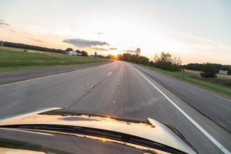 Портедж, Висконсин: закат обещает нам хорошую погоду, а вот Weather Underground с ним не согласен