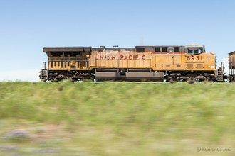 Ласк, Вайоминг: едем вдоль железной дороги