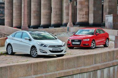 Сравнительный тест Audi A3 и Hyundai i40. Принцип или компромисс?