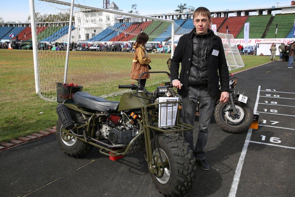 Полноприводный самодельный мотоцикл Алексея Перебоева