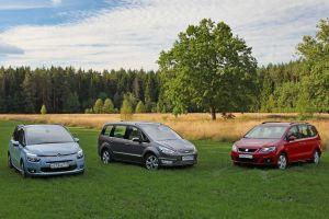 Сравнительный тест Citroen Grand C4 Picasso, Ford Galaxy и SEAT Alhambra. Для дома, для семьи