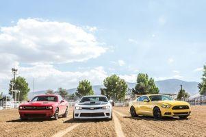 Не в первый раз: родео от классической тройки масл-каров — Camaro vs Challenger vs Mustang