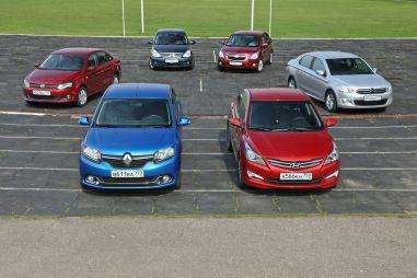 Сравнительный тест Chevrolet Cobalt, Citroen C-Elysee, Hyundai Solaris, Nissan Almera, Renault Logan и VW Polo. Холивар