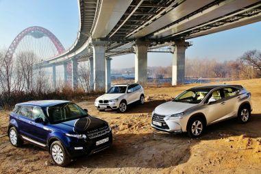 Сравнительный тест Lexus NX 300h, BMW X3 20d и Range Rover Evoque Si4. Концепция кроссовера