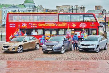 Сравнительный тест Nissan Sentra, Skoda Octavia и Chevrolet Cruze. В ритме большого города