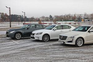 Сравнительный тест CadillacCTS, InfinitiQ70 иLexusGS. Подпремиум