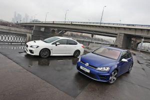 Сравнительный тест Subaru WRX vs Volkswagen Golf R. Взррррыв!