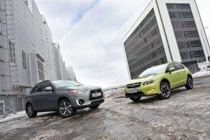 Сравнительный тест Mitsubishi ASX и Subaru XV. Внедорожник или легковушка?