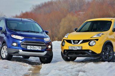 Сравнительный тест Nissan Juke и Ford EcoSport. Покорители бордюров