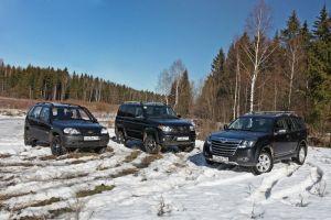 Сравнительный тест УАЗ Патриот, Great Wall Hover H3 Turbo и Chevrolet Niva