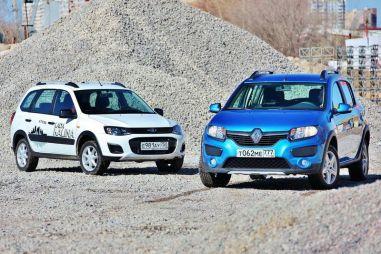 Сравнительный тест Lada Kalina Cross и Renault Sandero Stepway. «Постой-ка, брат мусью!»