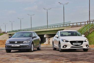 Сравнительный тест седанов Mazda31.5 и Volkswagen Jetta1.4TSI. Разница подходов