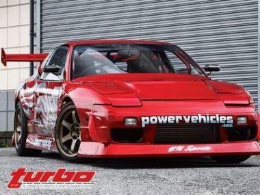 Дрифт на Nissan 180SX от BN Sports/Powervehicle, 1993