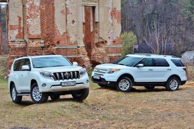 Сравнительный тест Toyota Land Cruiser Prado и Ford Explorer. Пуховик или телогрейка?