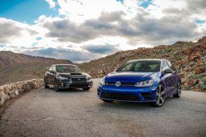 Сравнительный тест Subaru WRX STI и Volkswagen Golf R. Дуэль скоростей и улыбок