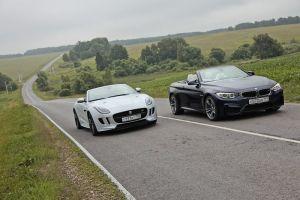 Тест-драйв BMWM4 Convertible иJaguar F-Type V8R. Антиподы